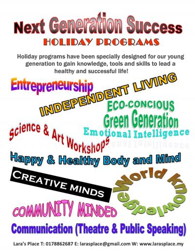 JULY TO AUGUST 2020 HOLIDAY PROGRAMS