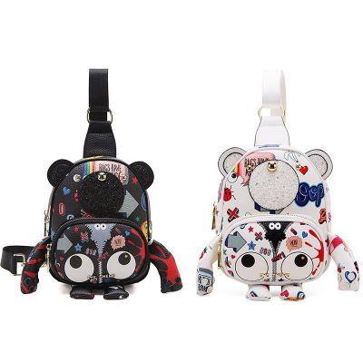 EYE THEME FASHION BEAR CHEST BAG