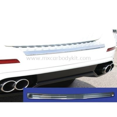 MERCEDES BENZ W176 2013 - 2018 REAR BUMPER PAD S/STEEL CHROME