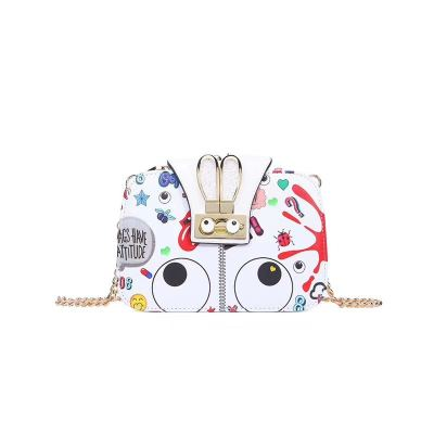 EYE THEME FASHION RABBIT CROSSBODY BAG