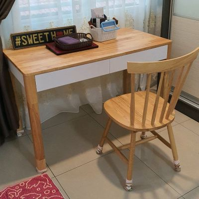 Study Table Solid wood natural White Delivery in Batu maung Penang Furniture shop online RM950