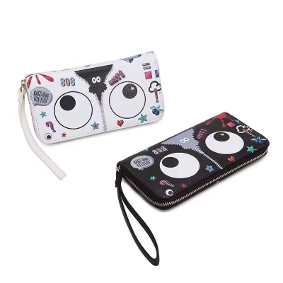 EYE THEME FASHION LONG WALLET