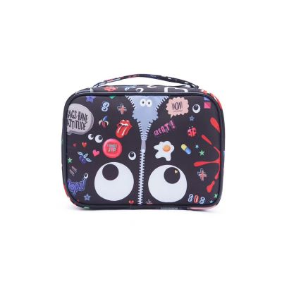 EYE THEME FASHION NYLON MAKE UP BAG