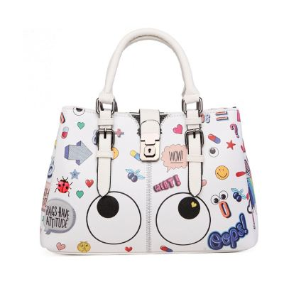 EYE THEME FASHION 3 COMPARTMENT CROSSBODY BAG