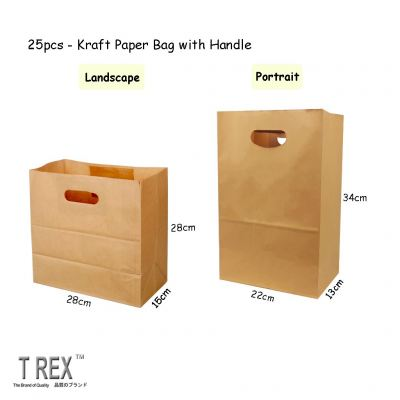 25pcs Brown Gift Paper Bag / Kraft Paper Bag with Handle