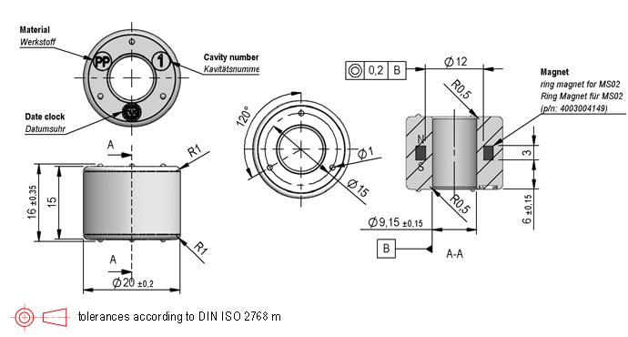 Standex MS08-PP Series Magnetic Float