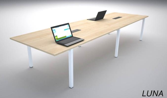 MEETING TABLE WITH U METAL LEG