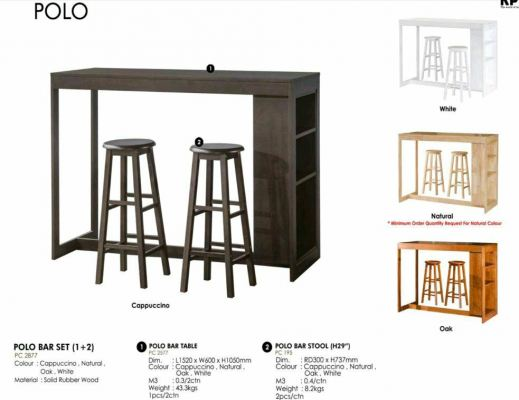 Quality Nice mordern Solid wood Bar Sets Bar Table With Bar Chairs