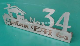 Stainless Steel House Number Plate 白钢门牌Stainless Steel House Number Plate 白钢门牌