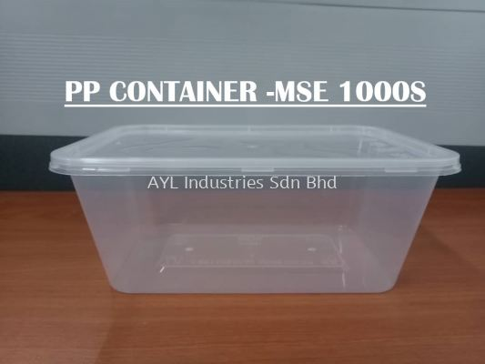 MSE PP RECTANGULAR CONTAINER (MSE 1000S)
