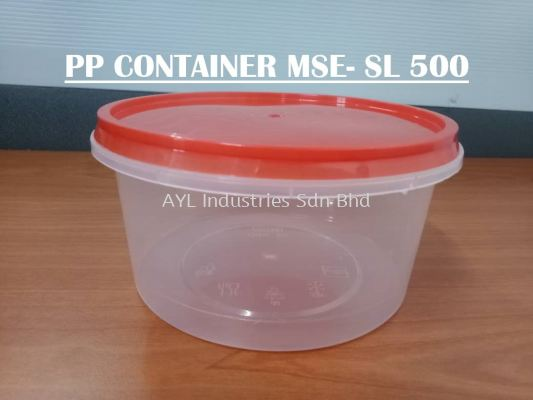 MSE PP CONTAINER ROUND (MSE -SL 500) (120X120X6MM)