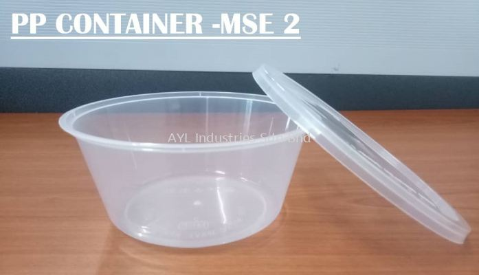 MSE PP CONTAINER ROUND (MSE 2) (119X119X5MM)