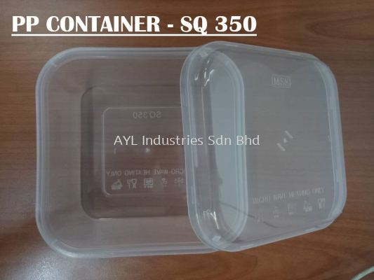 PP CONTAINER SQUARE (SQ 350) (105X105X4MM)