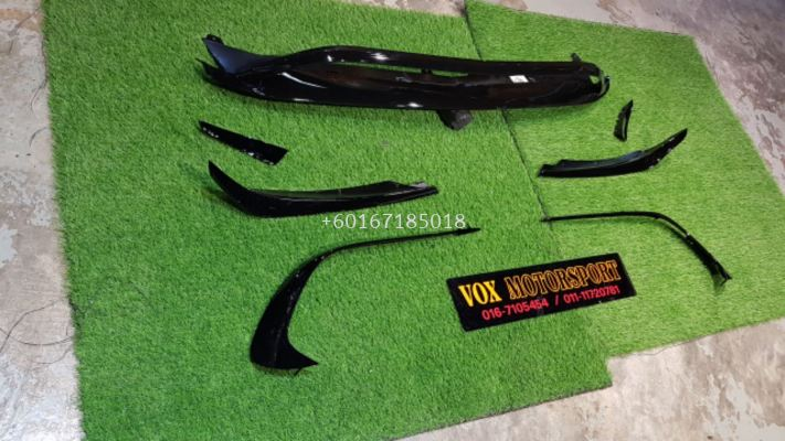 mercedes benz w176 a class amg a45 canard lip diffuser for w176 amg face lift add on upgrade performance look gloss black pp material new set