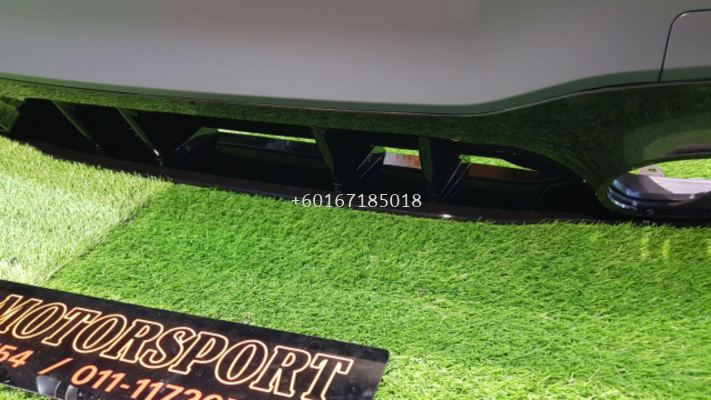 mercedes benz v177 a class sedan a45 rear bumper a45 style replace upgrade performance look with diffuser a45 gloss black pp material new set