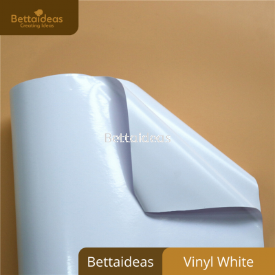 Vinyl White Sticker