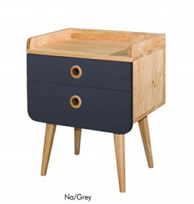 Full Solid Rubberwood Bedside Table Side Tables - 4 colours