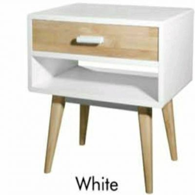 Scandinavian Full solid rubberwood bedside table-4