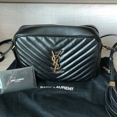 YSL Full Leather Black Camera Crossbody Bag GHW