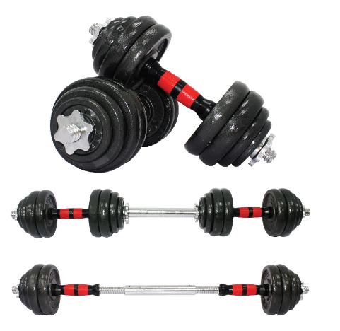 2 IN 1 30 KG IRON DUMBBELL