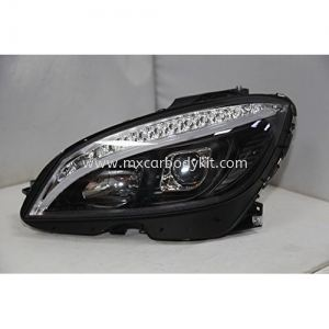 MERCEDES BENZ W204 2007 HEAD LAMP PROJECTOR WITH LED + LIGHT BAR