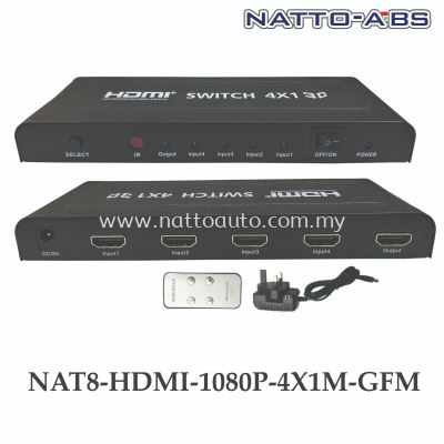 HDMI Switch Intelligent 4-Port in 1 Out HDMI Switcher Splitter Supports Full HD1080p IR Remote