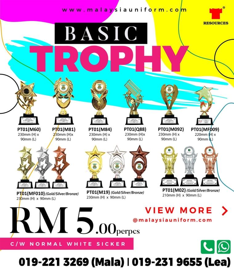 Basic Trophy view more @malaysiauniform.com
