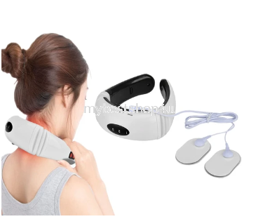 Electric Neck Back Pulse Massager Infrared Heating Cervical Vibrator Shoulder Acupuncture Scraping