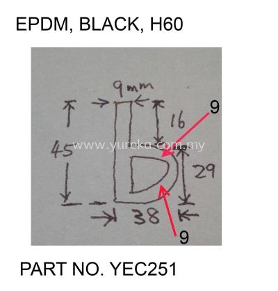 YEC-251 P45X29 EPDM