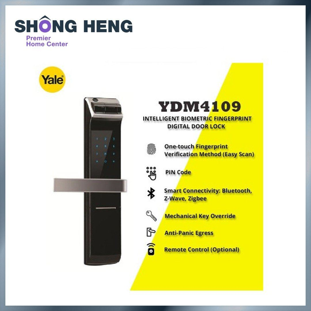 YALE YDM 4109 - Intelligent Biometric Fingerprint Digital Door Lock