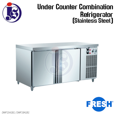 FRESH Under Counter Combination Refrigerator (Stainless Steel) DWF15A1B1 / DWF18A1B1
