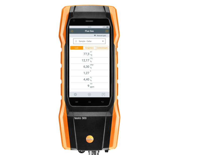 TESTO 300 LONGLIFE FLUE GAS ANALYZER (O2, CO H2 COMPENSATED UP TO 30,000 PPM, NO CAN BE RETROFITTED)