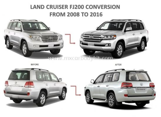 TOYOTA LAND CRUISER CONVERSION FROM 2008 TO 2016 BODY PARTS