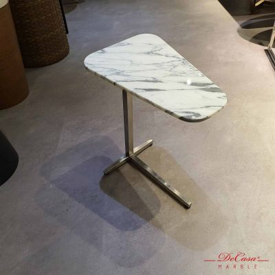 Triangle Marble Side Table for Sofa