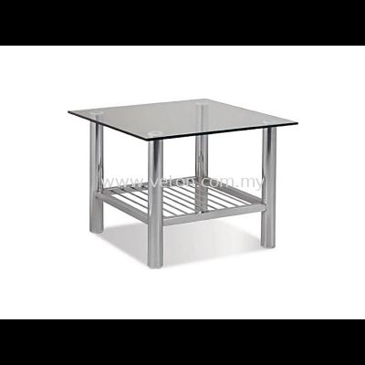 SQUARE TEMPERED GLASS COFFEE TABLE