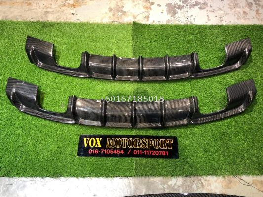 bmw f30 3 series mperformance rear diffuser quad style for f30 msport replace upgrade performance look carbon fiber material new set