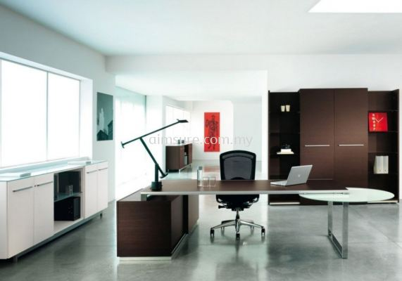 Modern Ceo table with custom made cabinet