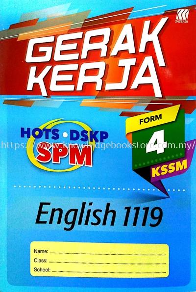 GERAK KERJA SPM ENGLISH 119 FORM 4