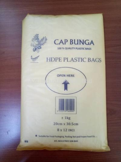 015HF HDPE PLAIN BAG 1KG (20CM X 30.5CM) (8X12)