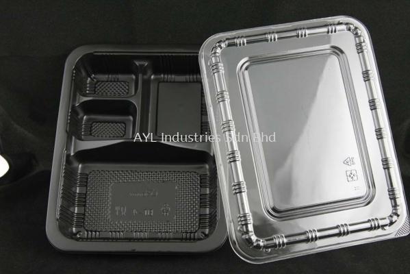 BENXON LUNCH BOX (BT-4) (LIDS 235X185X20)(BASE 225X175X35)(600PCS)(12X50PCS)