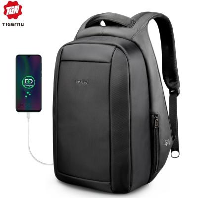 Tigernu Hidden Anti theft Zipper 15.6 inch Laptop Backpacks Water Repellent 20L Multi USB Charger
