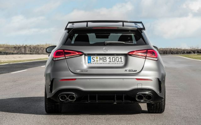 mercedes benz w177 a class a45 rear diffuser for w177 replace upgrade performance sporty look with gloss black pp material new set
