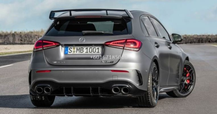 mercedes benz w177 a class rear diffuser a45 style for w177 amg replace upgrade performance sporty look with gloss black pp material new set
