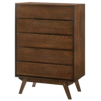 Design Series Chest Of Drawer - L760MM 5 DRAWERS CHEST - BROWN