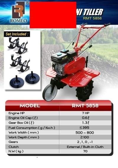 Romeo RTM5858 Cultivator Petrol Engine 7.0HP ID31422