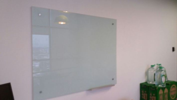 Tempered glass writing board