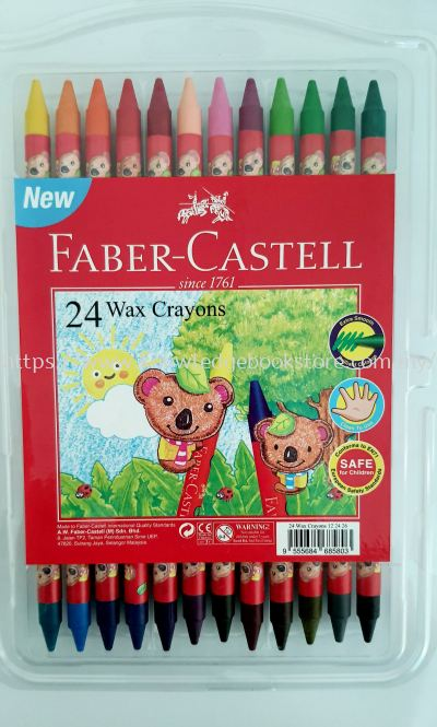 FABER CASTELL 24 WAX CRAYONS NEW