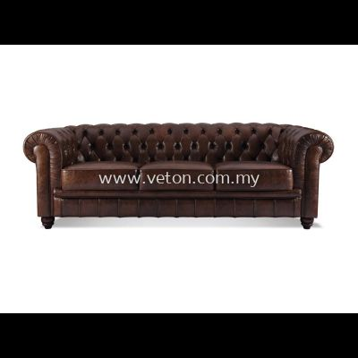 CHESTERFIELD SOFA (LEATHER)