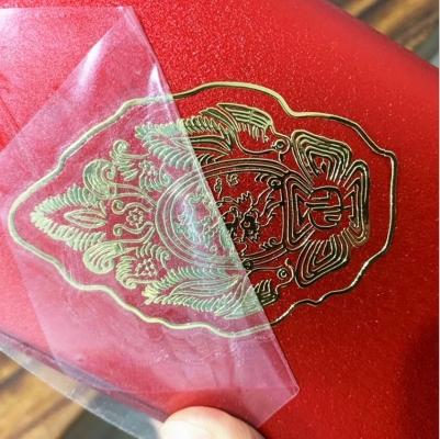 Custom Printing Brand Logo Adhesive Clear Metal Transfer Sticker