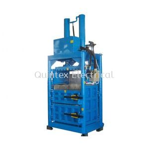 USED Vertical Waste Plastic Bottles Baler Machine Baling Press Bottles Waste Paper